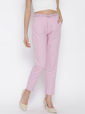 United Colors of Benetton Pink Trousers at myntra