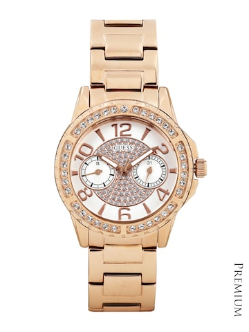 GUESS Women Off-White Dial Watch W0705L3 at myntra