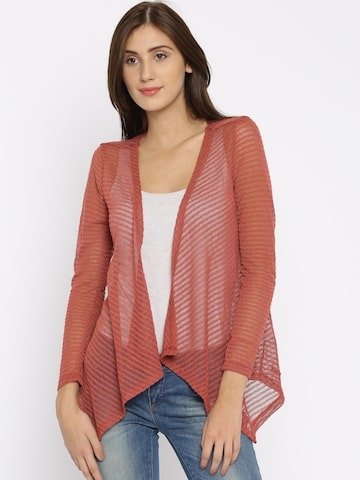 ONLY Rust Red Lace Shrug at myntra