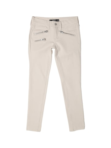 MANGO Women Beige Solid Ankle-Length Flat-Front Trousers at myntra