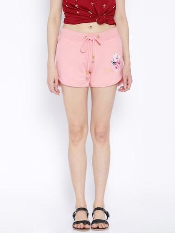 Ed Hardy Pink Shorts at myntra