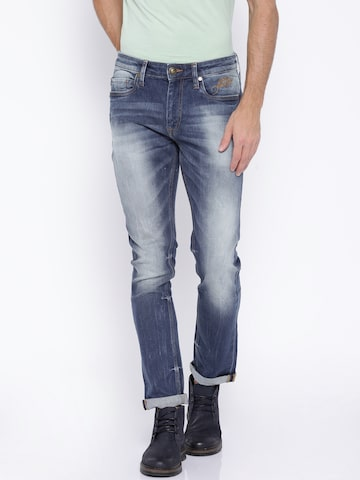 Ed Hardy Blue Super Slim Fit Jeans at myntra
