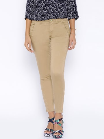 ONLY Brown Casual Trousers at myntra