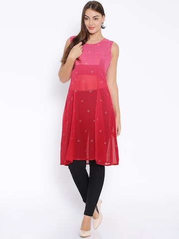 Global Desi Pink Kurta at myntra
