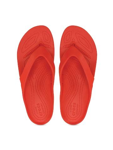 Crocs Women Red Flip-Flops at myntra