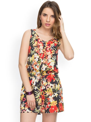 TARAMA Multicoloured Floral Print Playsuit at myntra