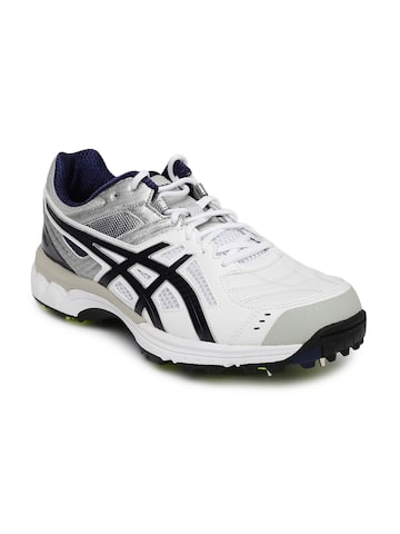 ASICS Men White Gel-220 Not Out Cricket Shoes at myntra