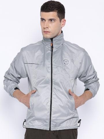 Sports52 Wear Grey Comfort Fit Hodded Rain Jacket at myntra