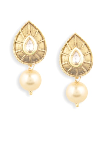 Rubans Gold-Toned Drop Earrings at myntra