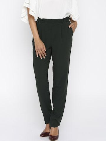 Vero Moda Grey Trousers at myntra