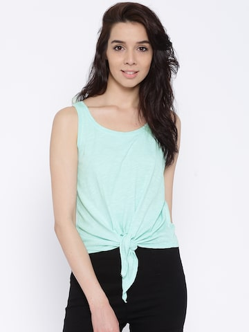 ONLY Mint Green Tank Top at myntra