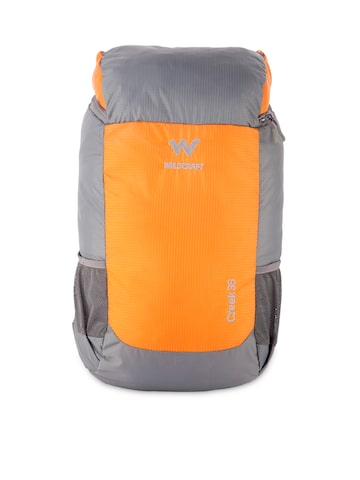 Wildcraft Unisex Grey & Orange Rucksack at myntra