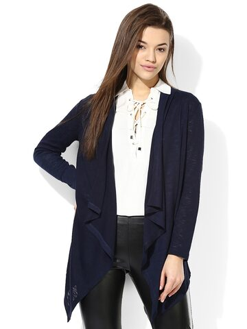 TshirtCompany Navy Shrug at myntra