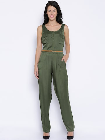 ONLY Olive Green Jumpsuit at myntra