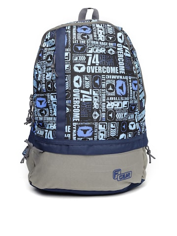 F Gear Unisex Navy & Grey Printed Burner Backpack at myntra