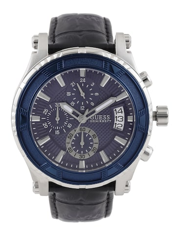 GUESS Men Blue Multifunction Dial Watch W0673G4 at myntra