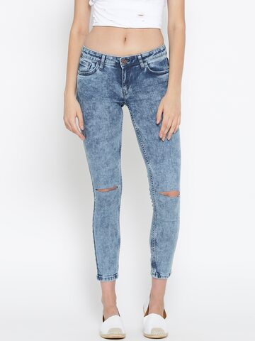Tokyo Talkies Blue Washed Jeans at myntra