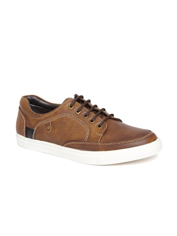 San Frissco Men Brown Textured Casual Shoes at myntra