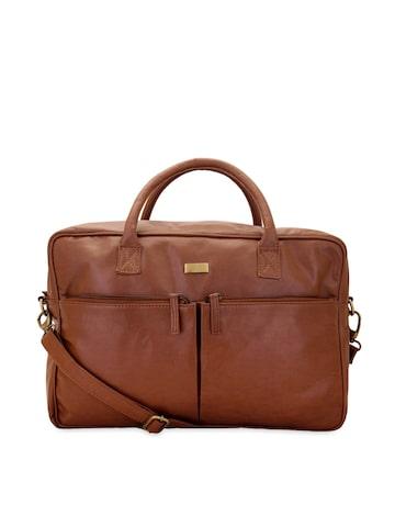yelloe Men Tan Brown Laptop Bag at myntra
