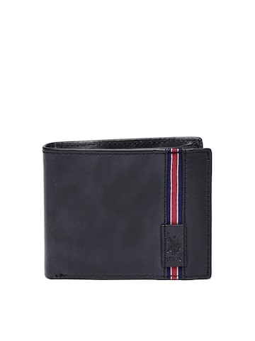 U.S. Polo Assn. Men Black Genuine Leather Wallet at myntra
