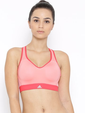 Adidas Pink SN X 3 Sports Bra AX5937 at myntra