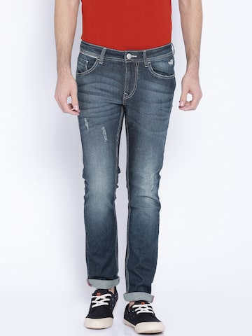 Flying Machine Blue Jackson Skinny Fit Jeans at myntra