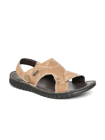 Franco Leone Men Brown Sandals at myntra