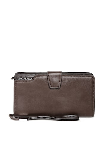 Lisa Haydon for Lino Perros Women Coffee Brown Textured Wallet at myntra