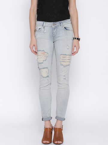 ONLY Blue Washed Jeans at myntra