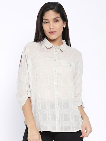 ONLY Women Beige Casual Shirt at myntra