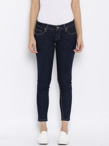 ONLY Women Navy High-Rise Clean Look Jeans at myntra