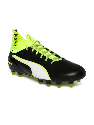 Puma Men Black evoTouch 1FG Football Shoes at myntra