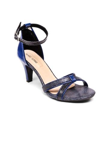 Marc Loire Women Blue Heels at myntra