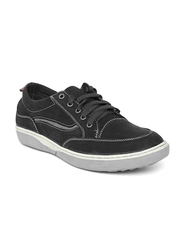 Numero Uno Men Black Leather Sneakers at myntra