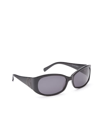 GUESS Women Oval Sunglasses 6418 BLK-3 at myntra