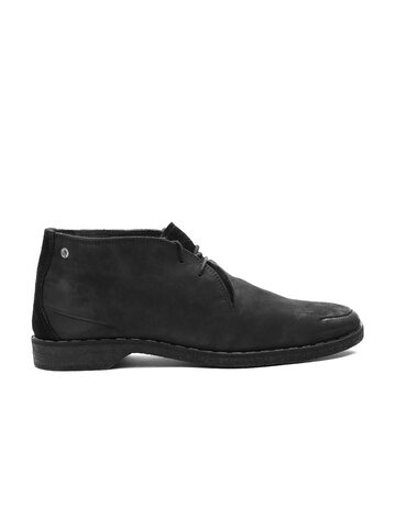DIESEL Men Black Suede Casual Shoes at myntra