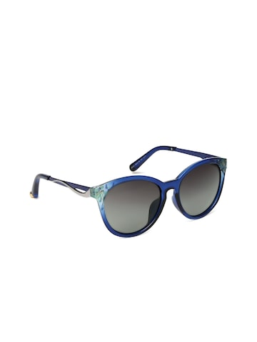 DressBerry Blue Oval Sunglasses 6583 at myntra
