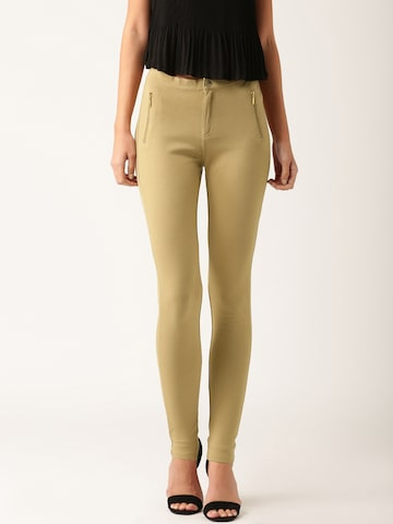 DressBerry Khaki Trousers at myntra