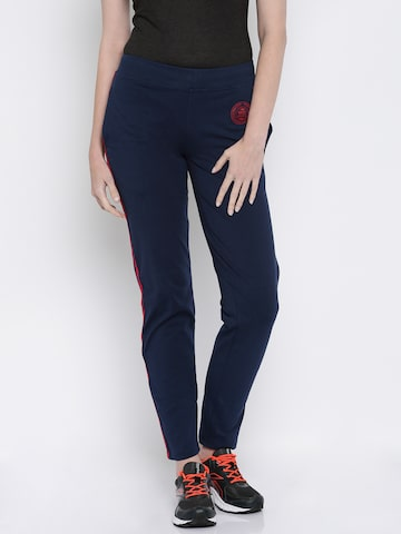SDL by Sweet Dreams Active Navy Track Pants at myntra