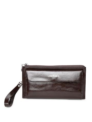 Lisa Haydon for Lino Perros Women Brown Glossy Wallet at myntra