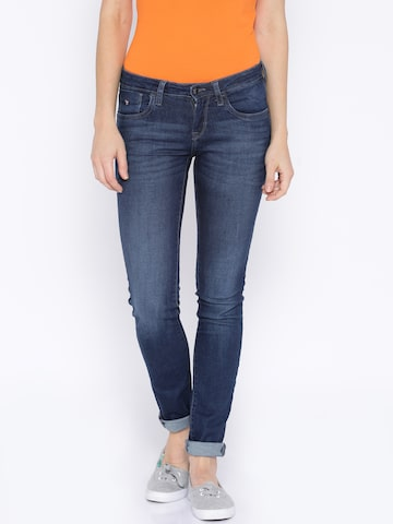 U.S. Polo Assn. Women Blue Super-Skinny Fit Jeans at myntra