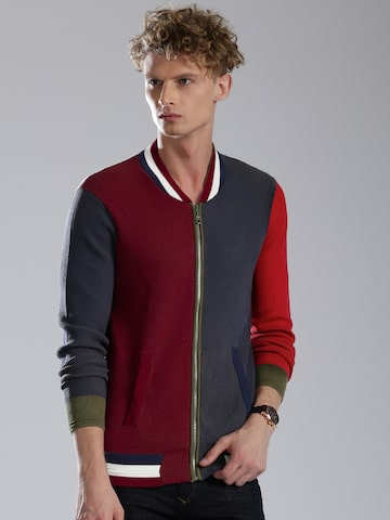 Tommy Hilfiger Men Multicolour Colourblocked Cardigan at myntra