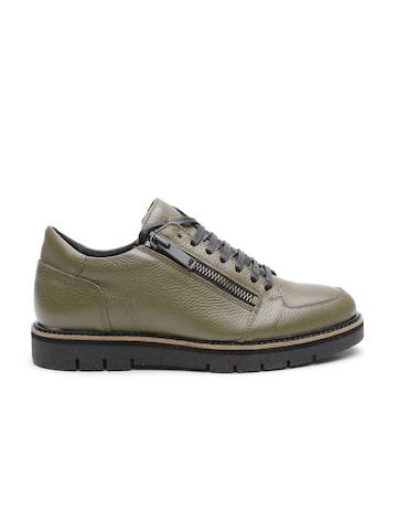 Antony Morato Men Olive Green Regular Sneakers at myntra