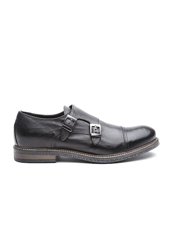 Antony Morato Men Black Solid Mid-Top Monks at myntra