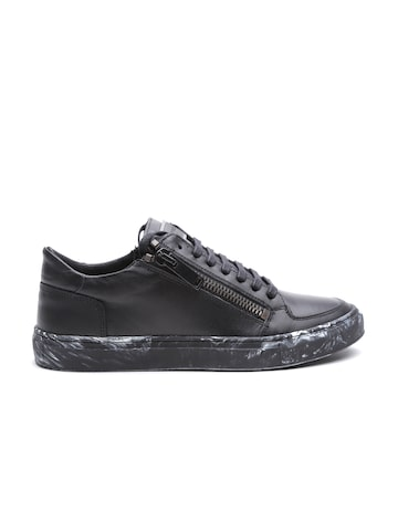 Antony Morato Men Black Sneakers at myntra