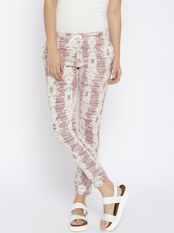 Vero Moda Women Off-White Regular Fit Casual Trousers at myntra