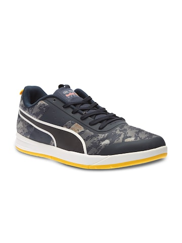 PUMA Men Navy Casual Shoes with Woven Design at myntra