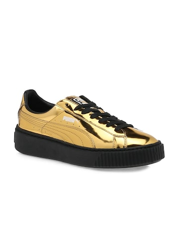 Puma Women Gold Sneakers Puma Casual Shoes at myntra