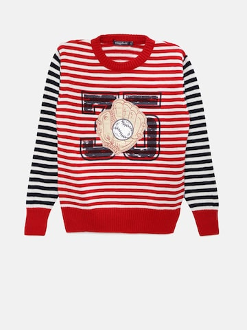 Wingsfield Boys Red Striped Sweater at myntra