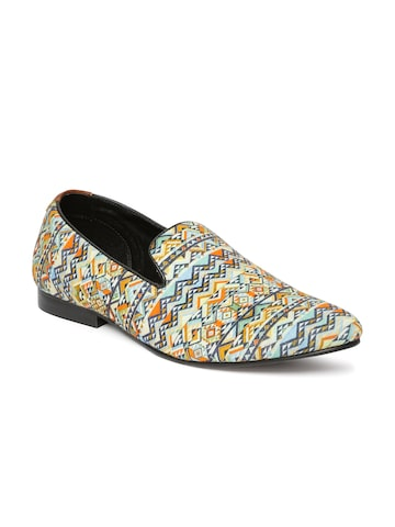 Franco Leone Men Multicoloured Printed Loafers at myntra